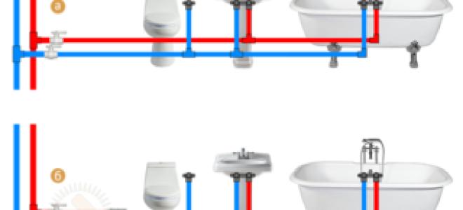 Схема разводки водопровода в квартире