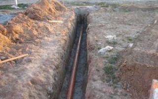 Прокладка наружного водопровода из полипропиленовых труб