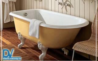 Размеры чугунных ванн