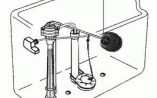 Замена запорной арматуры сливного бачка