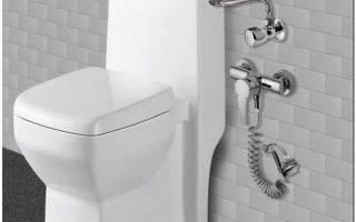 Подключение гигиенического душа в туалете